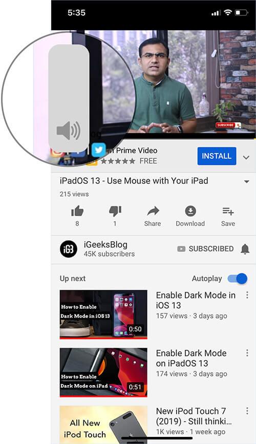 Use Volume HUD on iOS 13 or iPadOS 13
