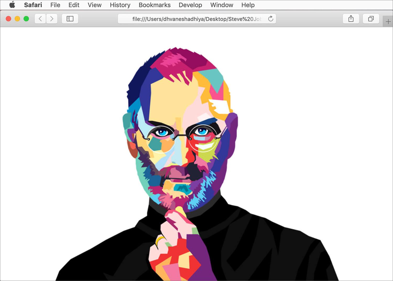 Use an Image as Safari Homepage on Mac