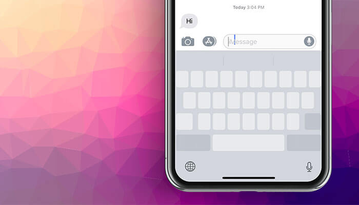 Use iPhone Keyboard as Trackpad