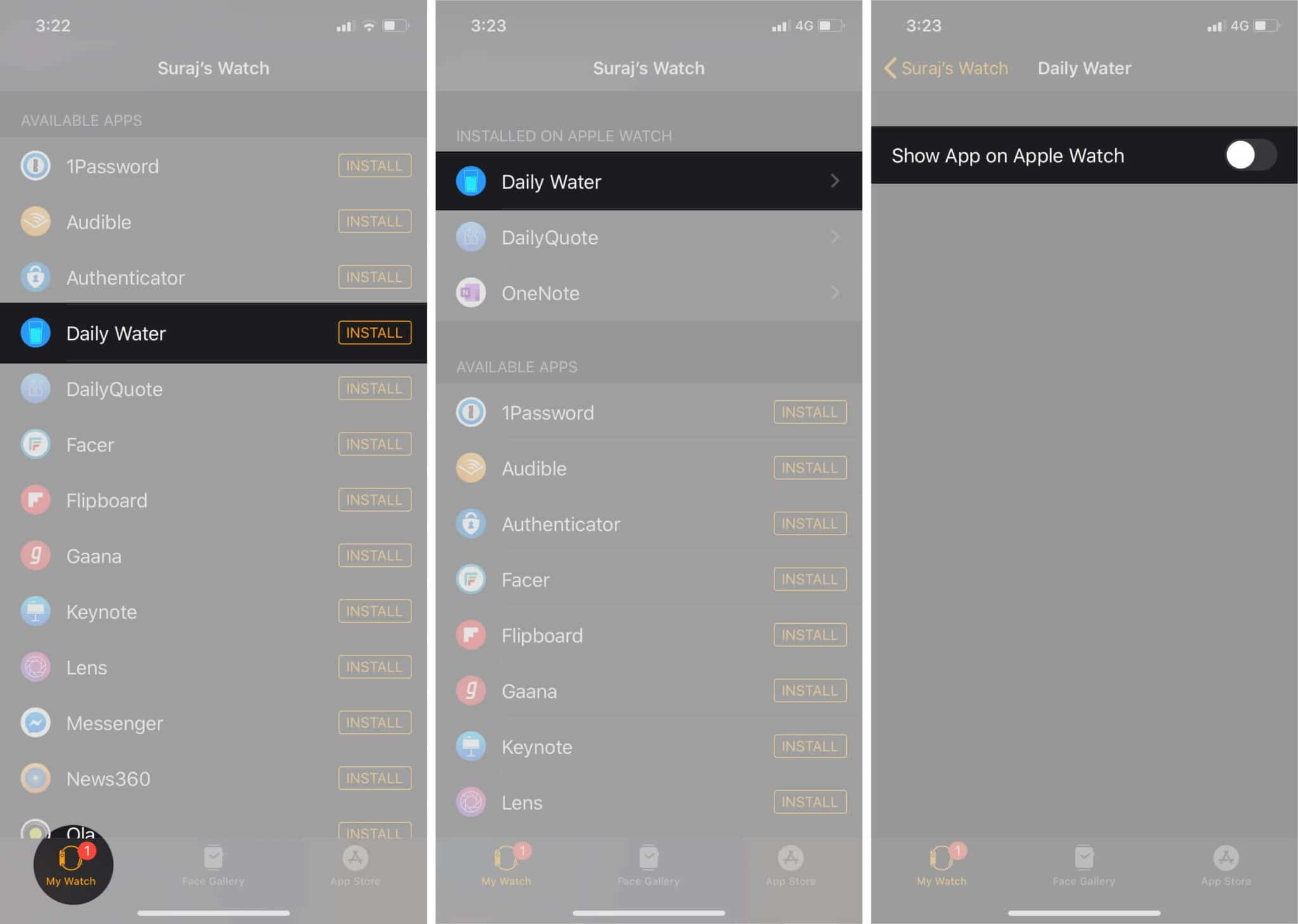 Use your iPhone to Manage your Watch Apps
