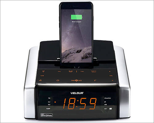 VELOUR iPhone 7-7 Plus Docking Station with Speaker