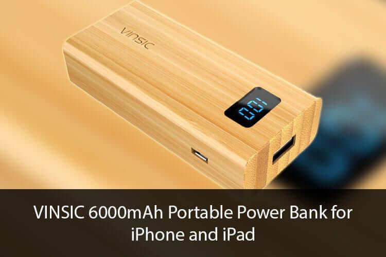 VINSIC 6000mAh Portable Power Bank for iPhone