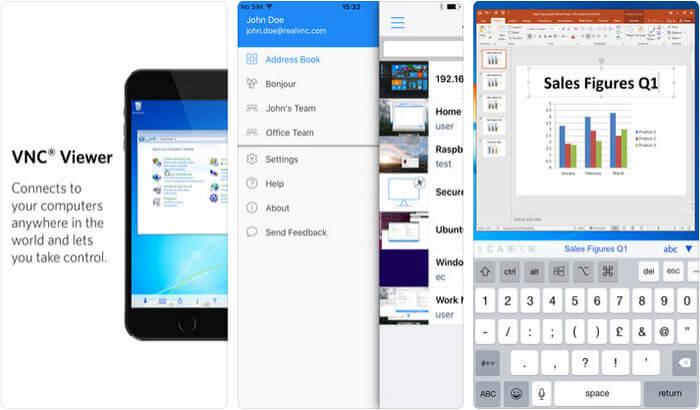 VNC Viewer Remote Desktop iPhone and iPad App Screenshot