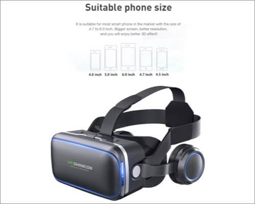 VR SHINECON VR Headset with Remote Controller for iPhone SE 2020