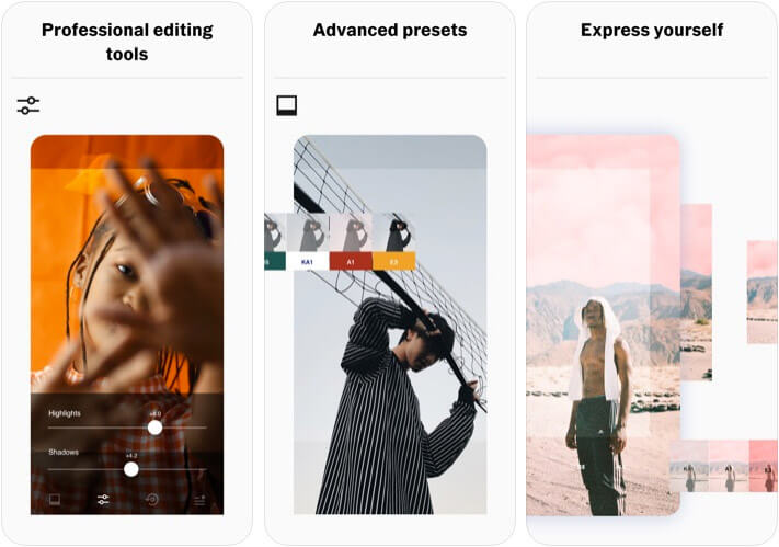 VSCO iPhone and iPad Photo Editor App Screenshot