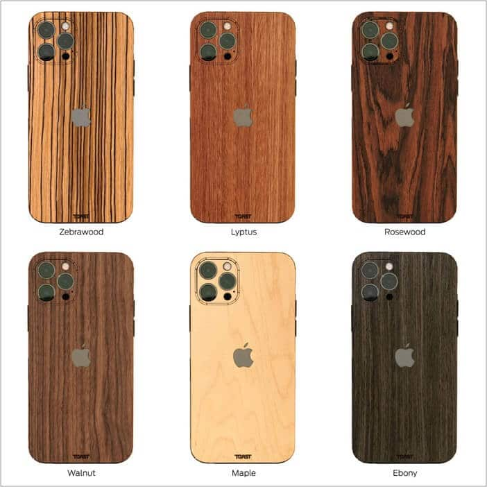 Various options of Toast iPhone 12 cover