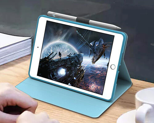 Veco Leather Folio Case for iPad Mini 5