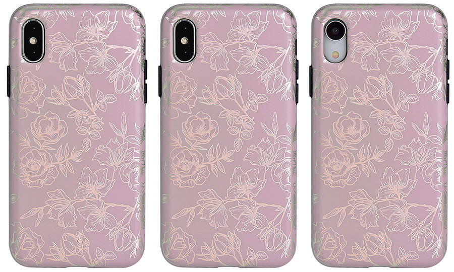 Velvet Caviar Dusty Rose iPhone Xs, Xs Max, and iPhone XR Case