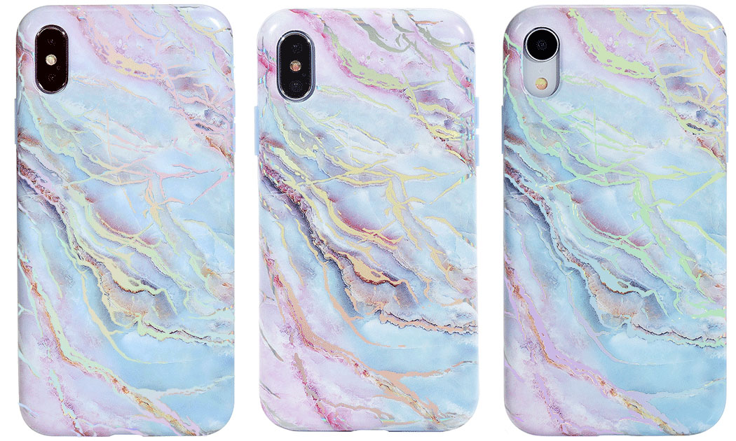 Velvet Caviar Holo Moonstone Marble iPhone Xs, Xs Max, and iPhone XR Case