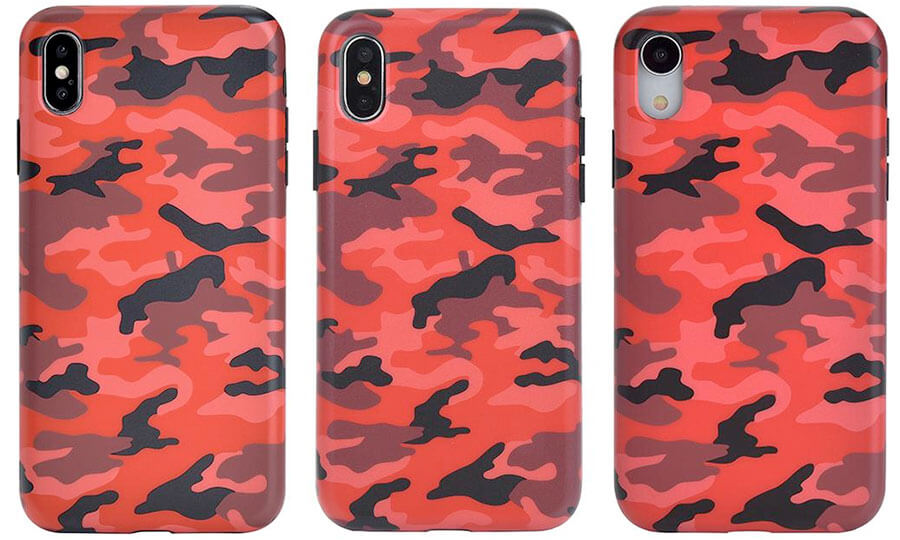 Velvet Caviar Red Camo iPhone Xs, Xs Max, and iPhone XR Case