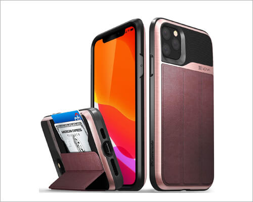Vena iPhone 11 Pro Max Leather Card Holder Case