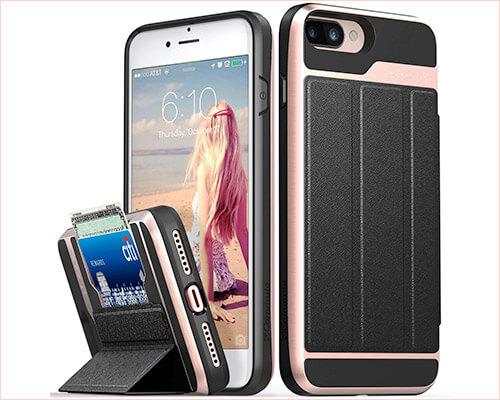 Vena iPhone 8 Plus Military Grade Wallet Case