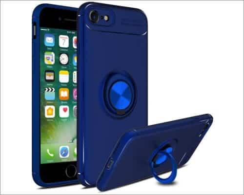 Venoro Ring Holder Kickstand Case for iPhone SE 2020
