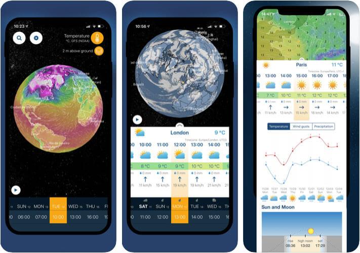 Ventusky 3D Weather Maps iPhone App Screenshot