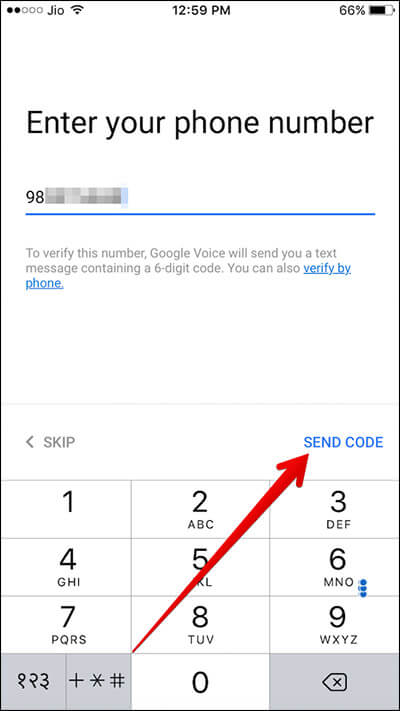 Verify Your Phone Number for Google Voice on iPhone