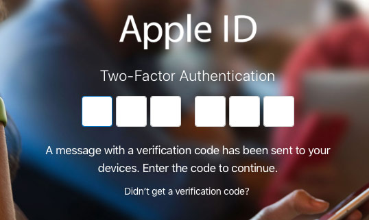 Verify your identity with two-factor authentication