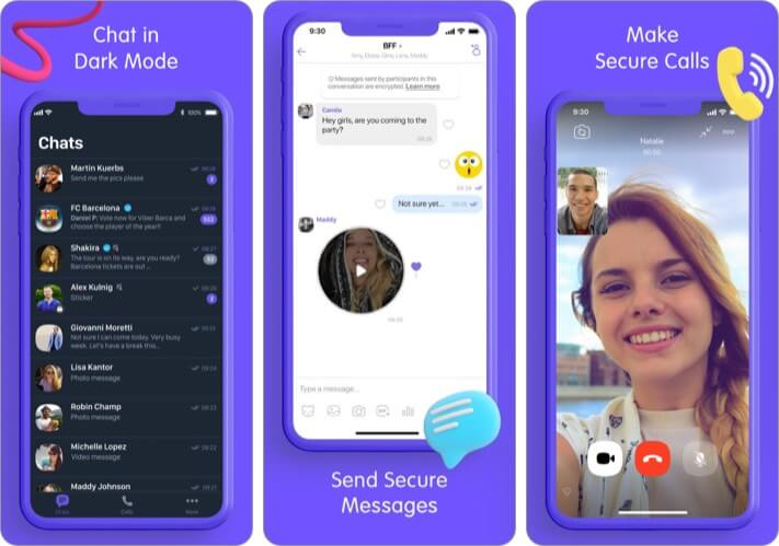 Viber Messanger Video Chat iPhone and iPad App Screenshot