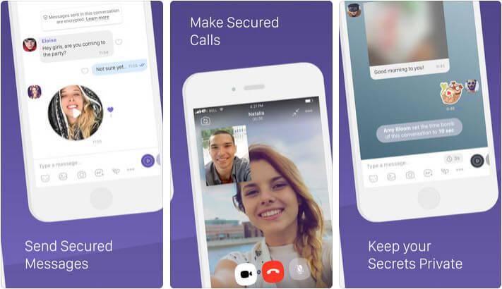 Viber iPhone and iPad App Screenshot