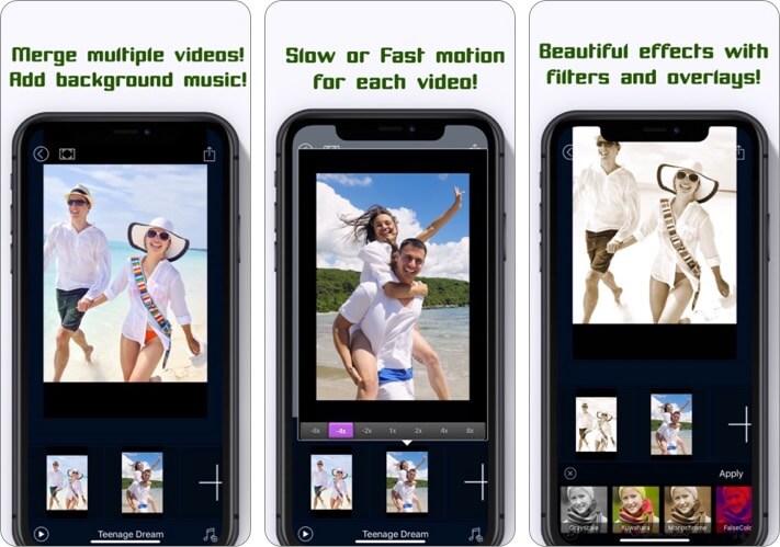 Video Joiner iPhone and iPad App Screenshot