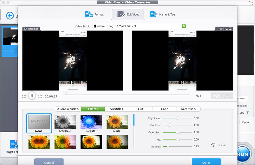 VideoProc Multiple Effects for 4K Video