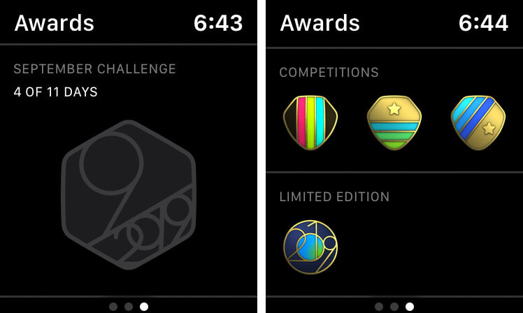 View Activity Awards on Apple Watch