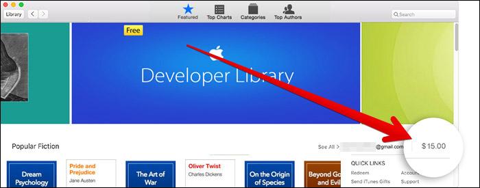 View Apple ID Account Balance from iBooks on Mac