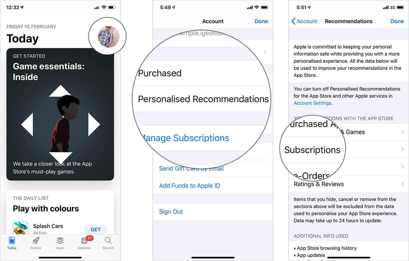 View, Change or Cancel Subscriptions on iPhone or iPad from App Store