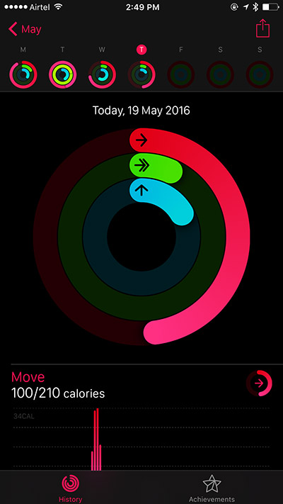 View Daily Workout on iPhone