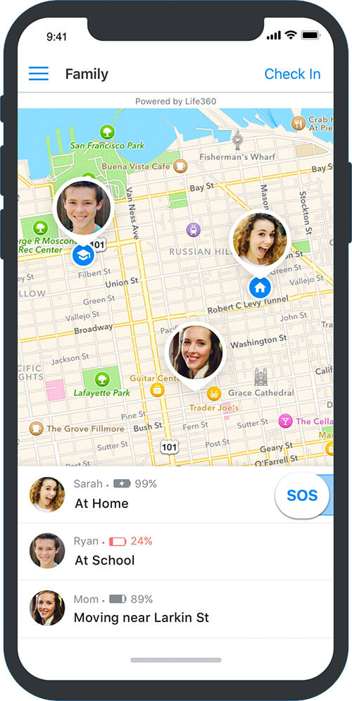 View Family Member's Live Location using ADT Go App