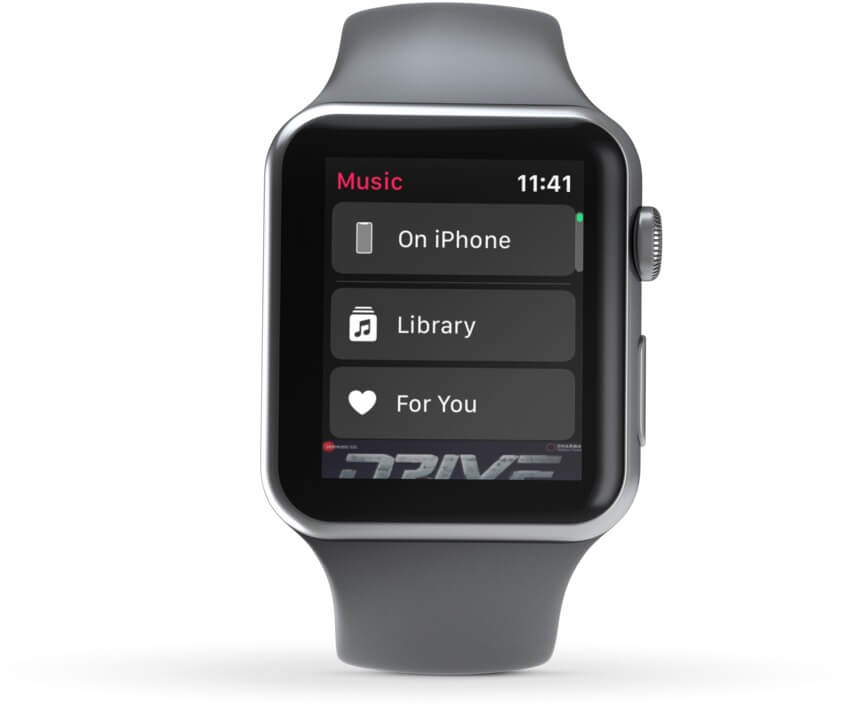 View On iPhone, Library and For You Option on Apple Watch