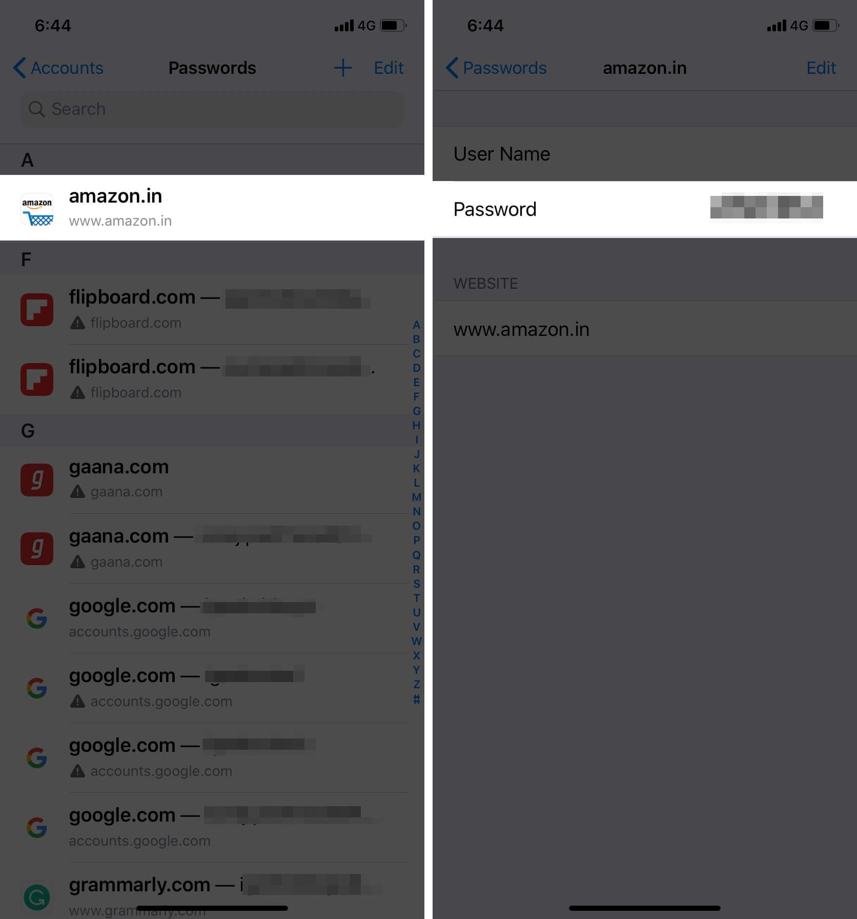 View Saved Passwords in Safari on iPhone