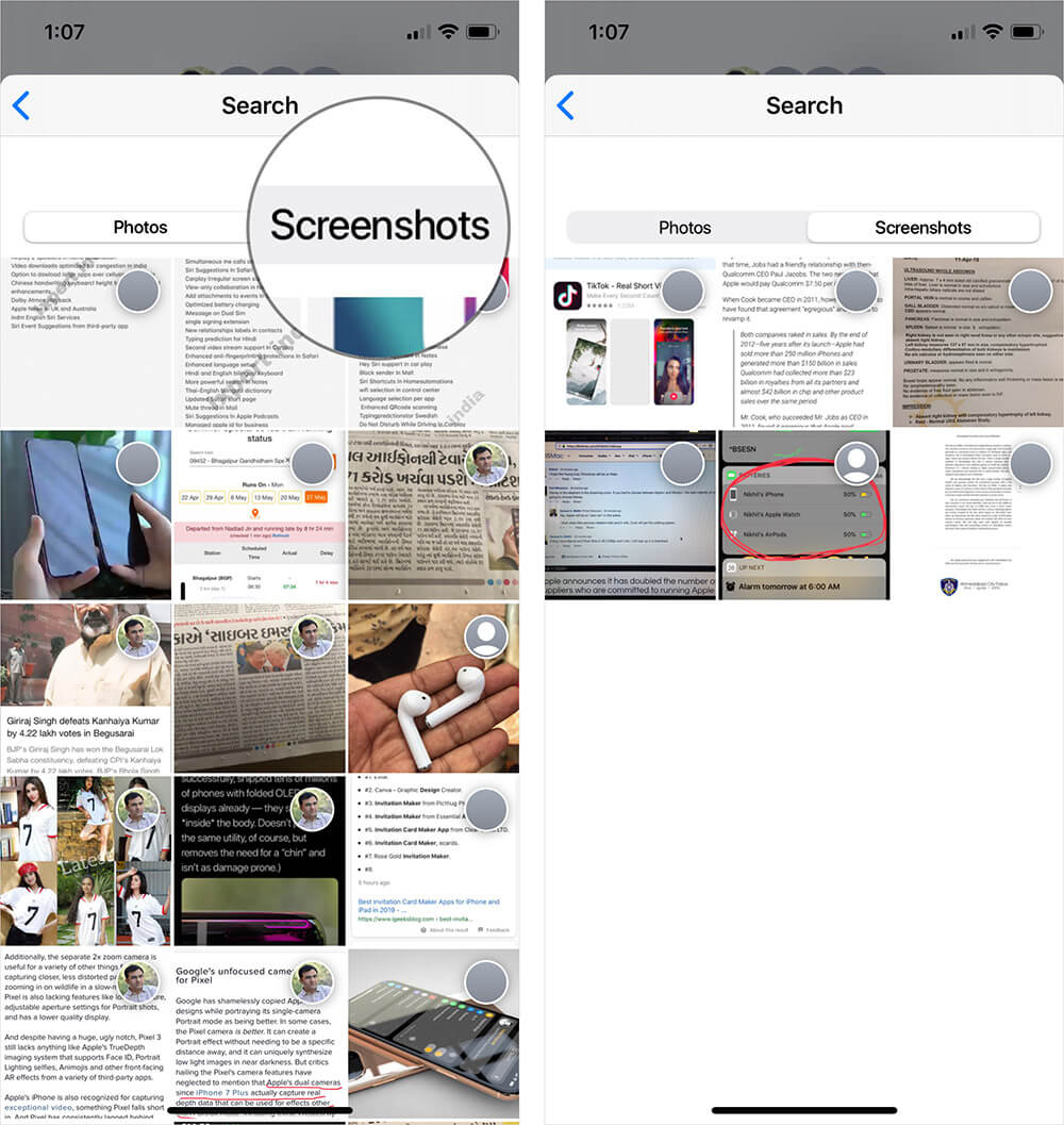 View Screenshots Shared Via Messages App on iPhone or iPad
