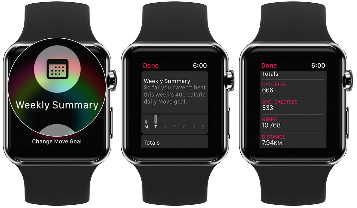 View Weekly Activity Summary on Apple Watch