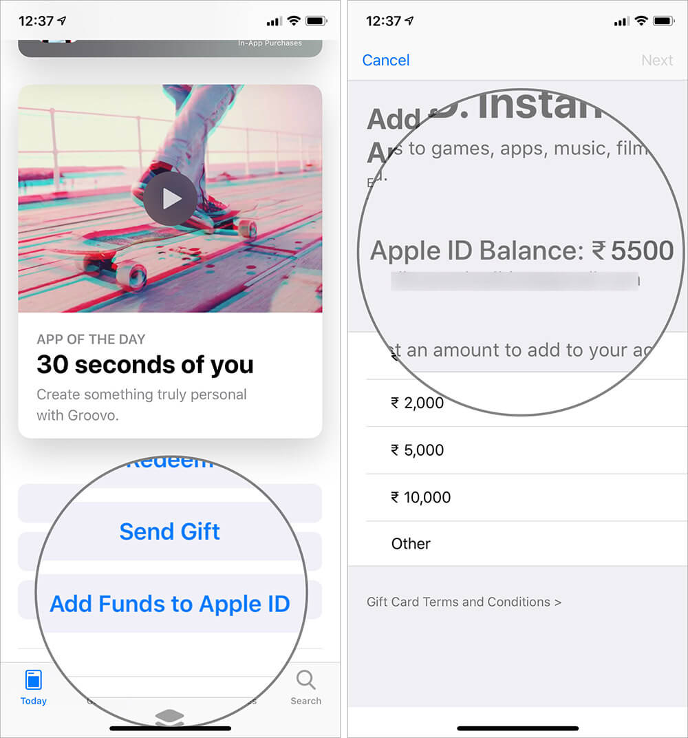 View Your Store Credit Balance on iPhone and iPad
