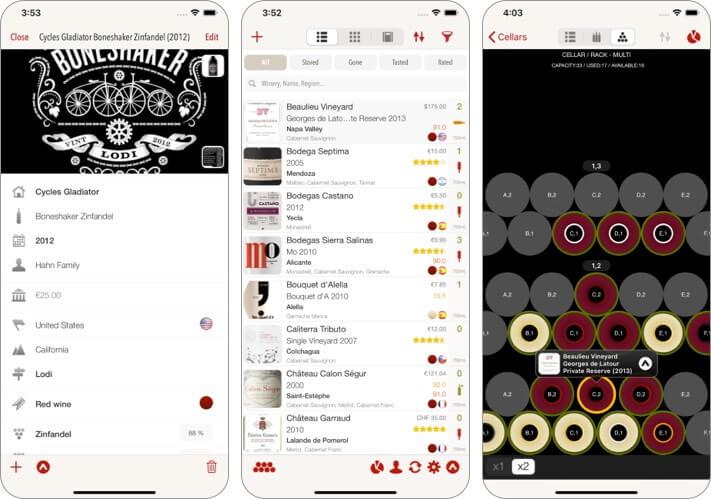 VinoCell best wine app for iPhone screenshot