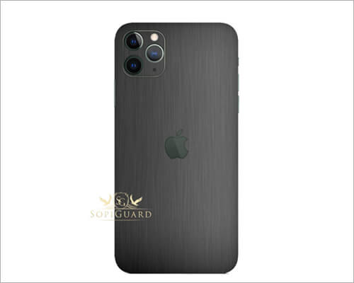 Vinyl Gunmetal Gray iPhone 11 Pro Skin Wrap