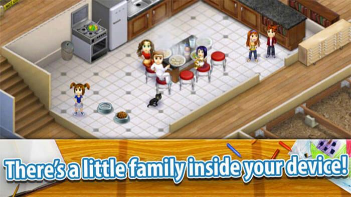Virtual Families 2 Dream House iPhone and iPad Game Screenshot