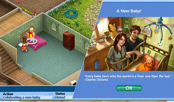 Virtual Families-2 Dream House iPhone and iPad Game Screenshot