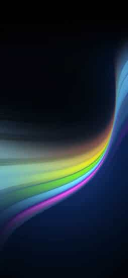 Virtual Rainbow wallpaper for iPhone Xs