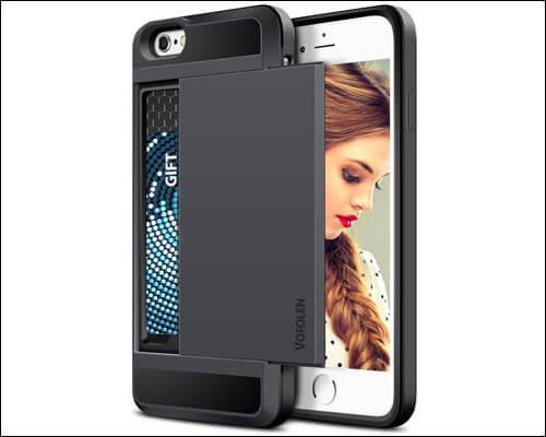 Vofolen iPhone 6s Plus Wallet Case with Credit Cards Slot