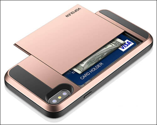 Vofolen iPhone Xs Max Card Holder Wallet Case
