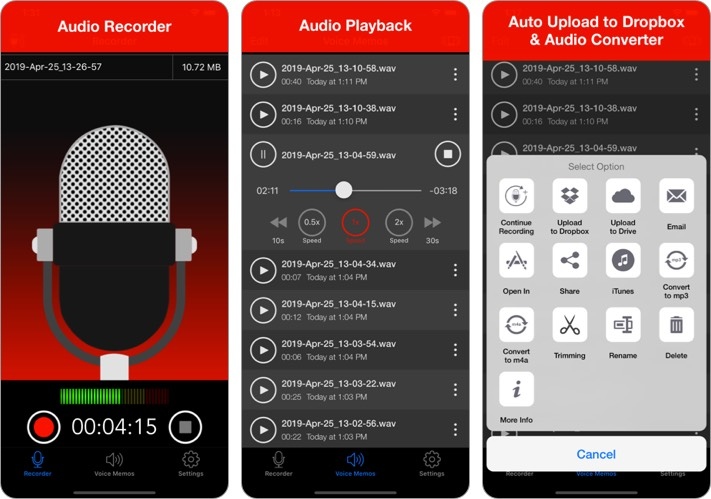 Voice Recorder - Audio Record iPhone and iPad App Screenshot