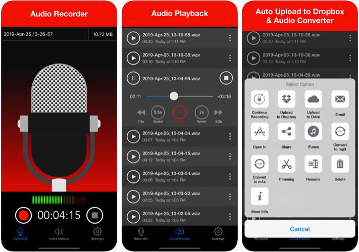 Voice Recorder iOS App Screenshot