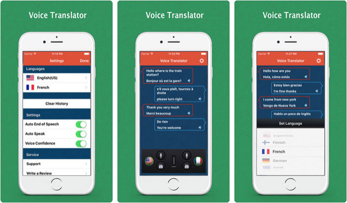 Voice Translator-Speech Trans iPhone & iPad App Screenshot