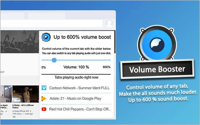 Volume Booster Google Chrome extension