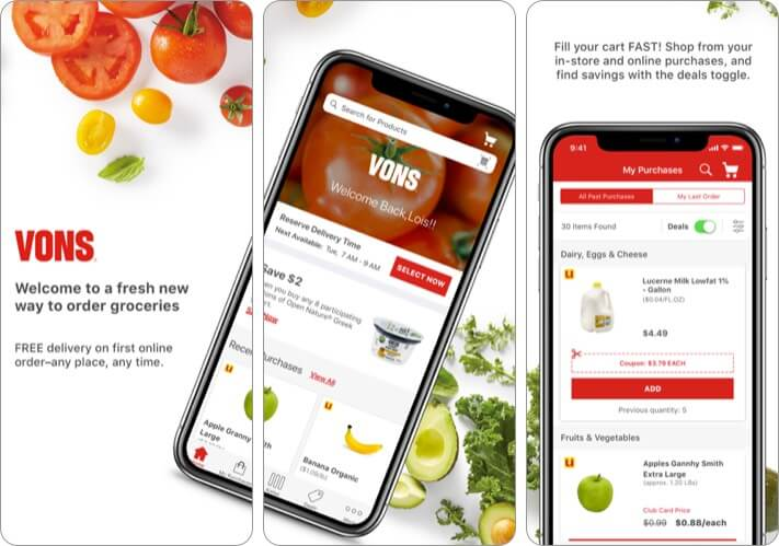 Vons Delivery & Pick Up iPhone and iPad App Screenshot
