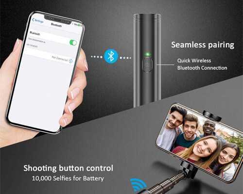 Vproof Selfie Stick for iPhone X, iPhone 8, and 8 Plus