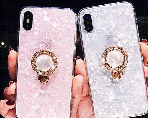 WATACHE iPhone X Ring Holder Case