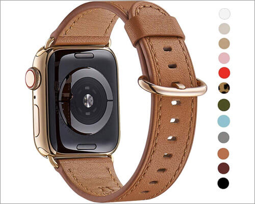 WFEAGL Leather Wrist Band for Apple Watch Series 5