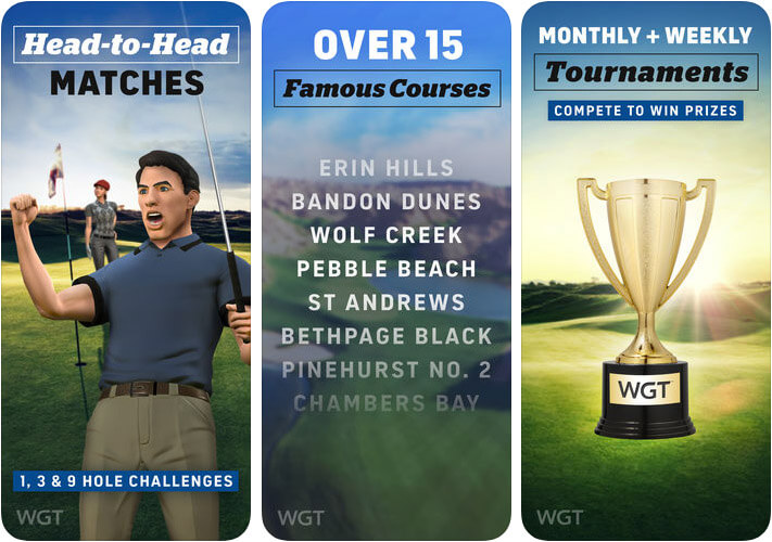 WGT Golf iPhone and iPad Game Screenshot